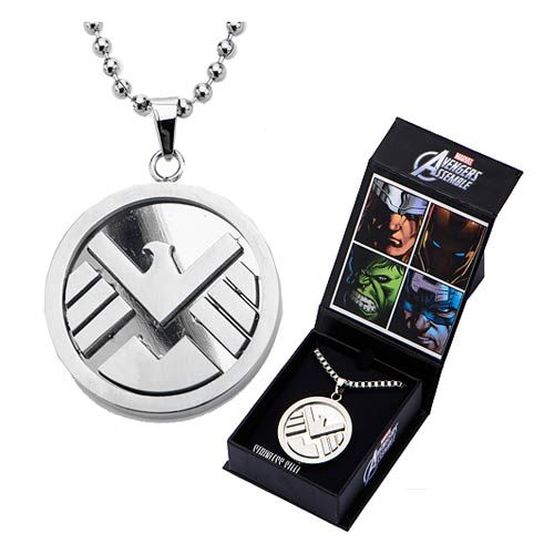 Agents of SHIELD Logo Pendant with Chain Necklace - Body Vibe - Agents of SHIELD - Jewelry at Entertainment Earth