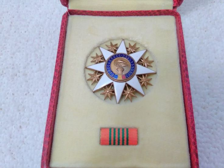 Vintage Romania/Romanian Cultural Merit Order cl.V Medal Pin Badge