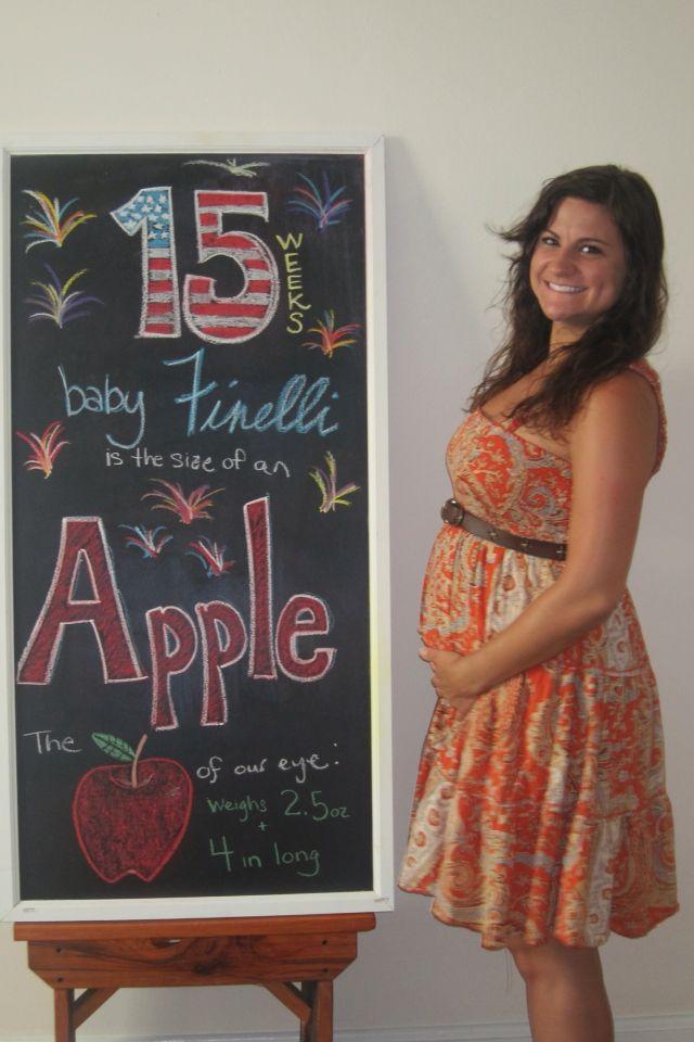 Baby bump chalkboard