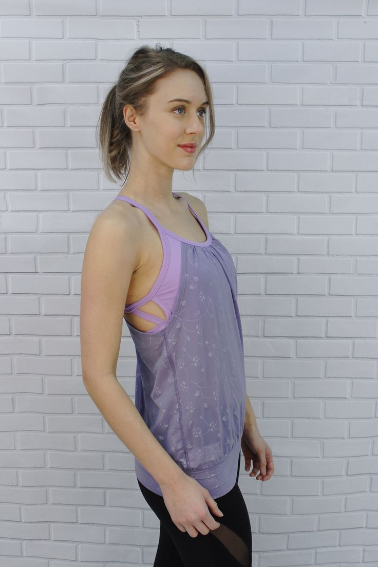 Only at J76 athletic Wear - tank top with strappy bra attached - Ariana Top