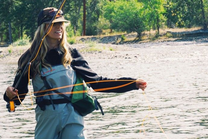 How One Woman Is Teaching Herself To Fly Fish