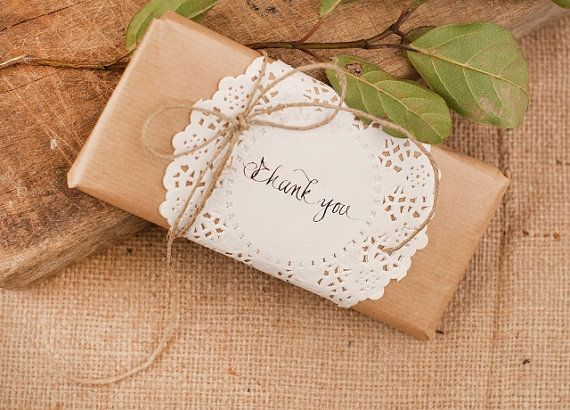 Wedding Chocolate Favors with doily and message  by LenaWeddings, $28.00