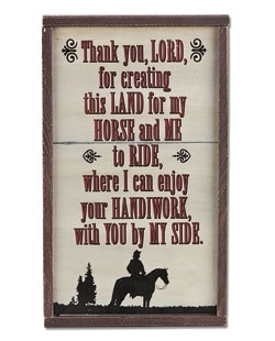 Lords Handiwork Sign (70933) - Home Décor - Montana Lifestyles | Montana
