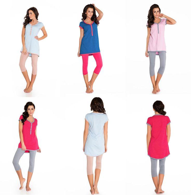 Damen Schlafanzug Pyjama Nachthemden Nachtwäsche Baumwolle Hausanzug S M L XL