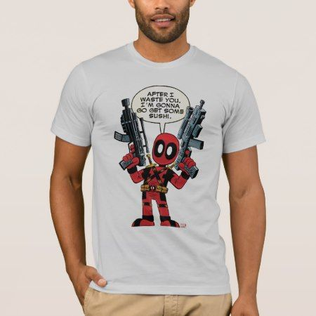 Mini Deadpool With Guns T-Shirt - tap to personalize and get yours