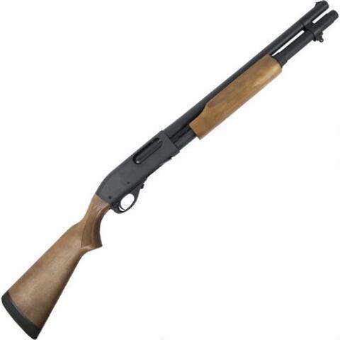 "Remington 870 Hardwood Home Defense Pump Action Shotgun 12 Gauge 18.5"" Barrel 6 Rounds Hardwood Stock Matte Blued 81197 - 047700811970"