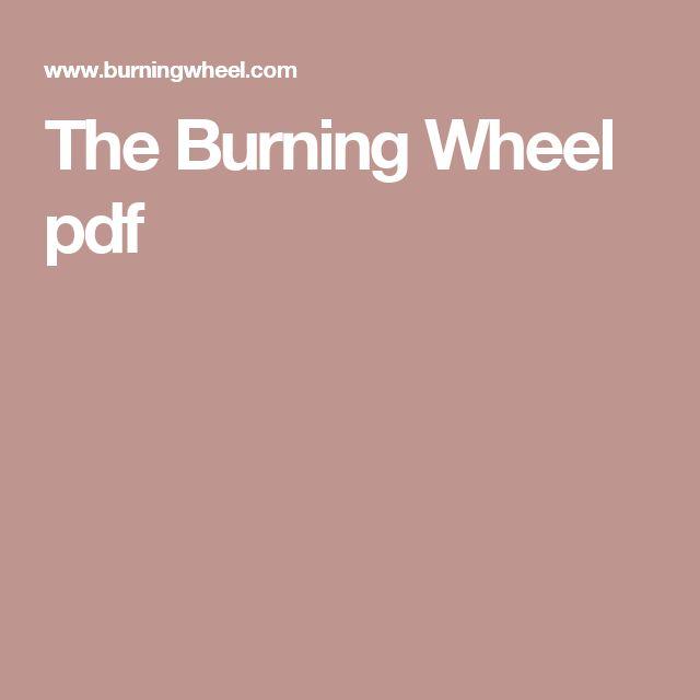 The Burning Wheel pdf Fantastic Resistances Pinterest