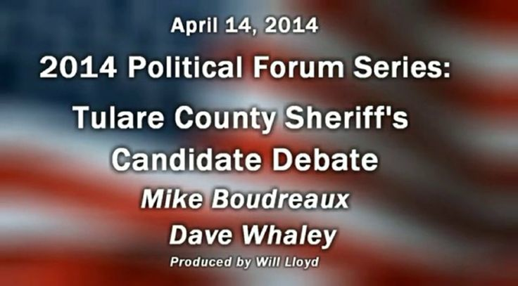 Candidates for Tulare County Sheriff 4-14-2014