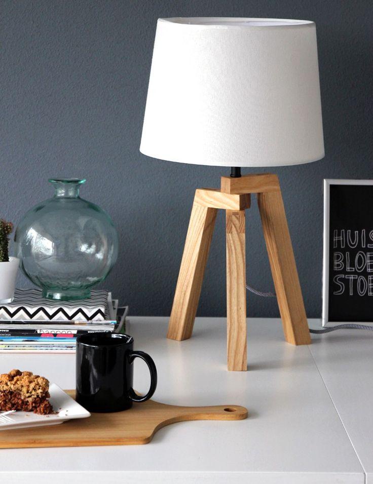 Scandinavische tafellamp Bronq Bess berken
