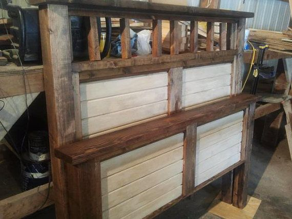 solid wood bed by BigCreekFurniture on Etsy