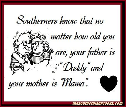 My family tree..all Southern. Never thought of this before, but it is so true..