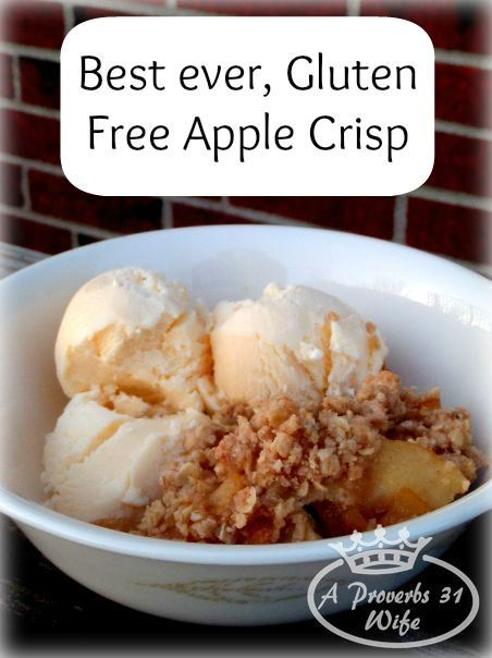 Gluten free baking doesn't have to be hard, as this easy to make recipe proves! Gluten free apple crisp with gluten free apple pie filling!