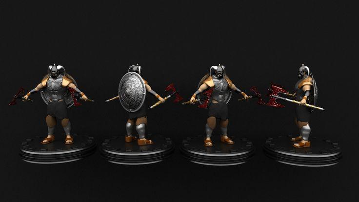 Vikings modelled in Maya, 3D.