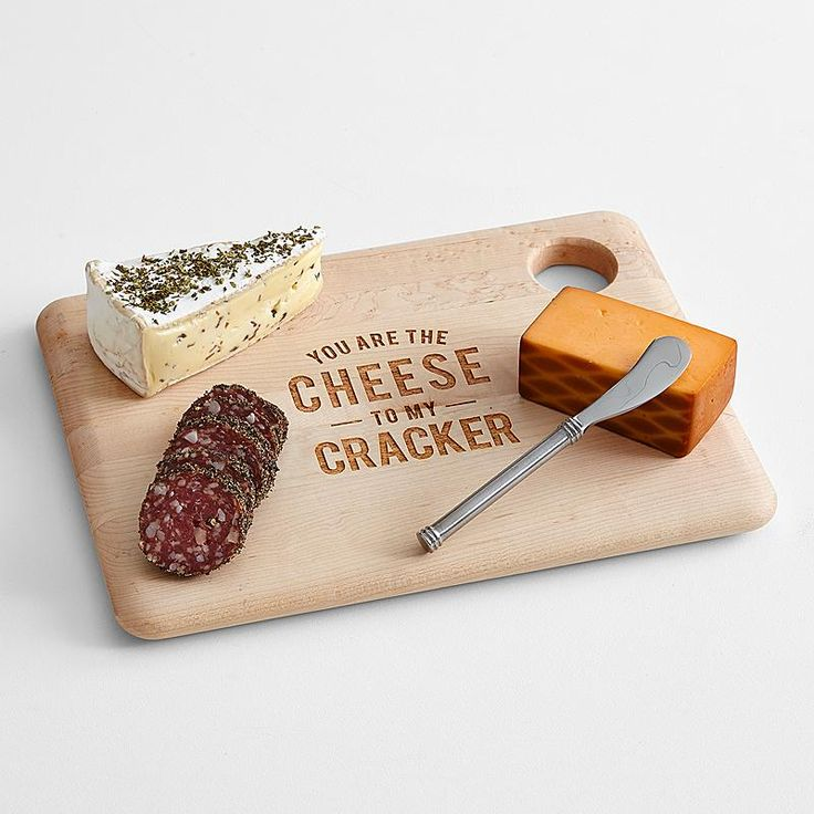 Personalized Cheese Quotes Serving Board Set