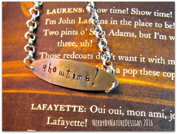 Showtime!: Hamilton Bracelet by NerdyByNatureDesigns on Etsy
