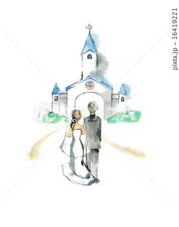 「教会ウェディング イラスト」の画像検索結果
