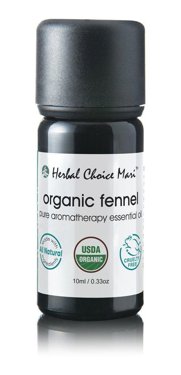 Herbal Choice Mari Organic Fennel Essential Oil 10ml/0.4oz Glass Dropper Bottle