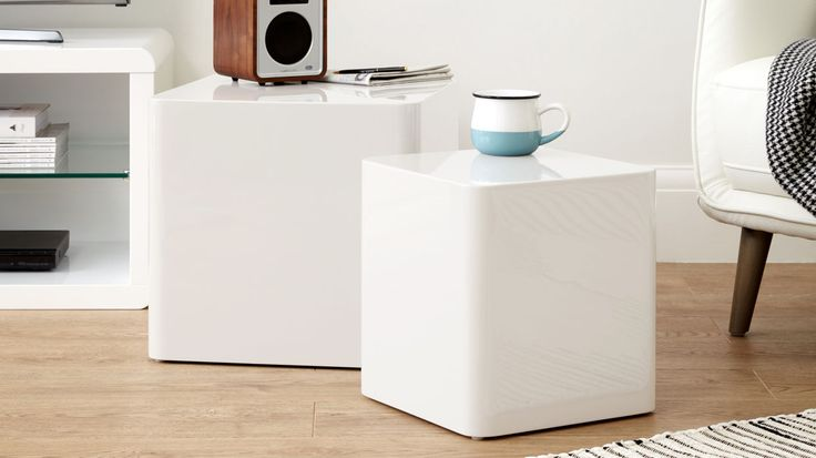 Dice White Gloss Side Tables £119.00