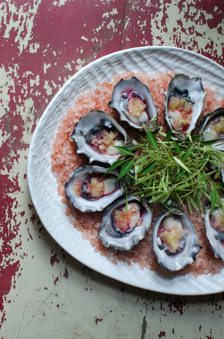 Oysters, charred finger lime, pepperberry smoked vodka | heneedsfood.com