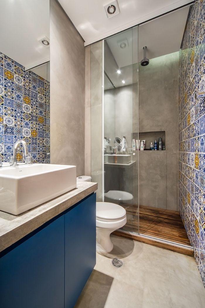bain idee salle de bain douche ciment