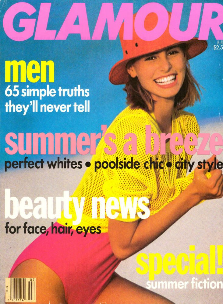 Glamour Magazine July 1990 Niki Taylor Vintage Vtg Ads Beauty Madonna Dick Tracy | eBay