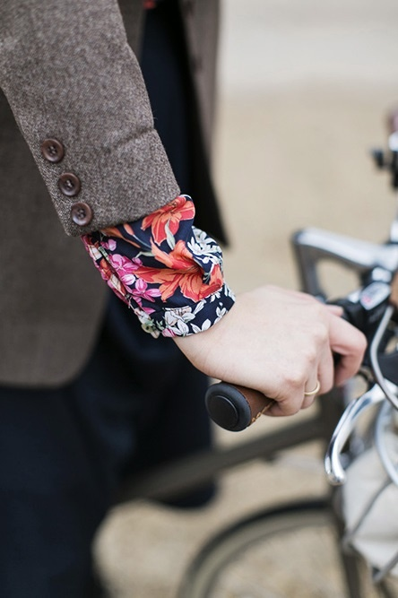 Flash of floral.