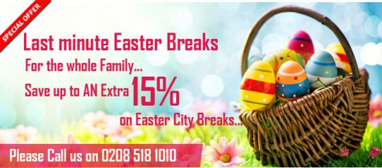 Easter Holidays are the ideal chance to getaway and we have some incredible occasion bargains. Discover a book your Easter getaway today!