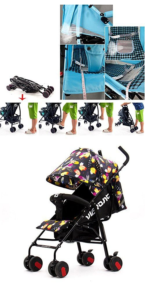 ALUS- Baby Stroller Super Lightweight Folding Shock Absorbers Baby Four Wheel Cart ( Color : Feathers )
