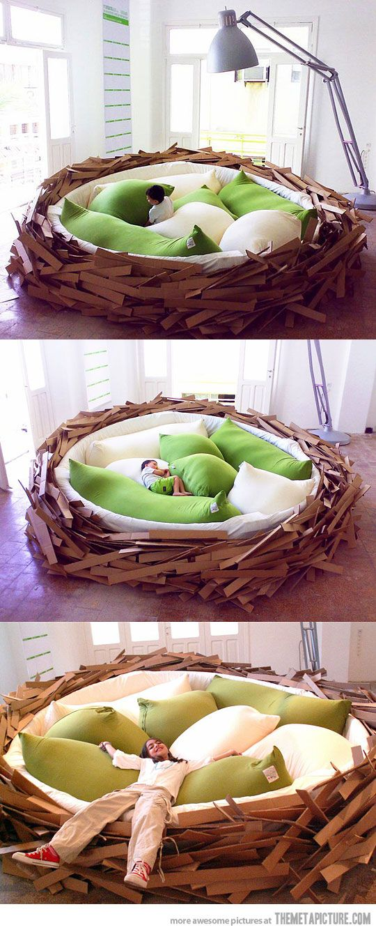 Bird's nest bed.Ideas, Nests Beds, Dreams, Birds Nests, Future, Awesome Birds, Things, Kids, House