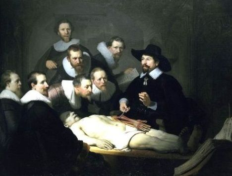 A Lição de Anatomia do Dr.Tulp, pintura de Rembrandt.