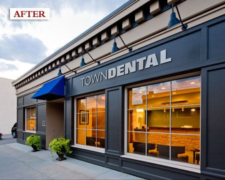 Excelsior town dental the new fa ade adds historical - Small office building exterior design ideas ...