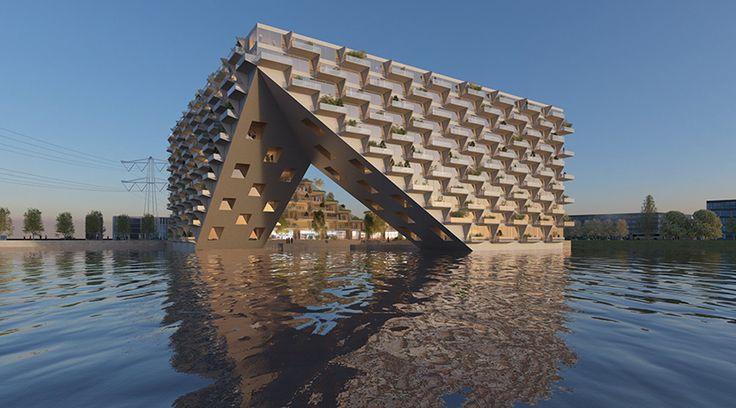 bjarke ingels group to build floating sluishuis in amsterdam