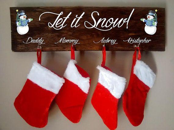 Christmas Stocking Holder  Stocking Hanger  by KimballKreations