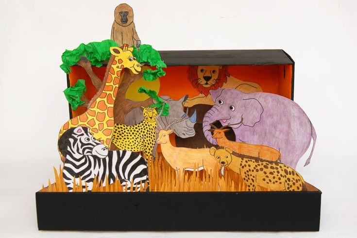 Kids Diorama With Details: African Savanna Diorama