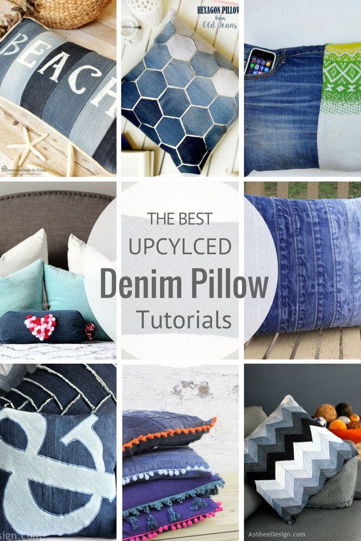 Don't throw away your old jeans use them to make some fabulous upcycled denim pillows.  Here are 12 great tutorials.