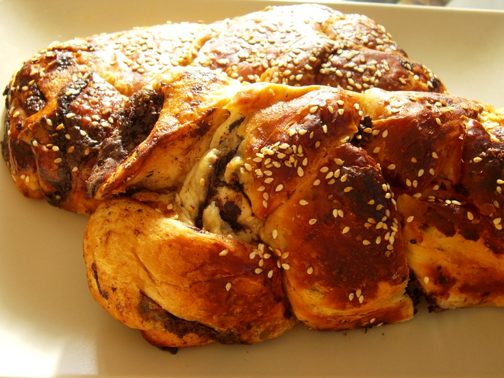 Chocolate rugelach meets Babka meets Challah - #DeliciousIsrael