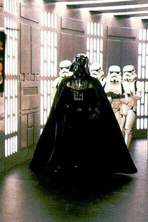 Vader and Troops on the Death Star.