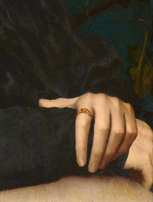 Hans Holbein the Younger - Portrait of Derich Born,detail,1533.