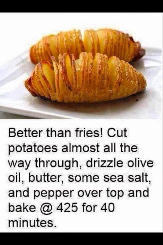 Hassleback Potatoes - When the Dinner Bell Rings