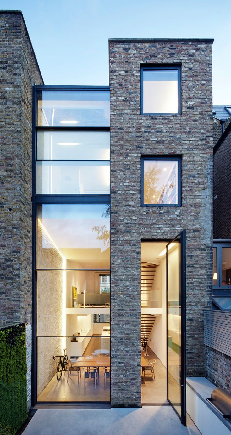 Awesome Extra Tall Windows Connect Studio Octopiu0027s Slot House With Its Patio  Garden. Modern Architecture HouseCreative ArchitectureResidential ...