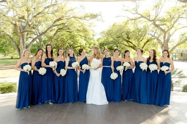 Royal Blue Bridesmaids dresses.  Charming and Chic wedding.  @AislePerfect  New Orleans and Paris, France wedding photographers www.artedevie.com