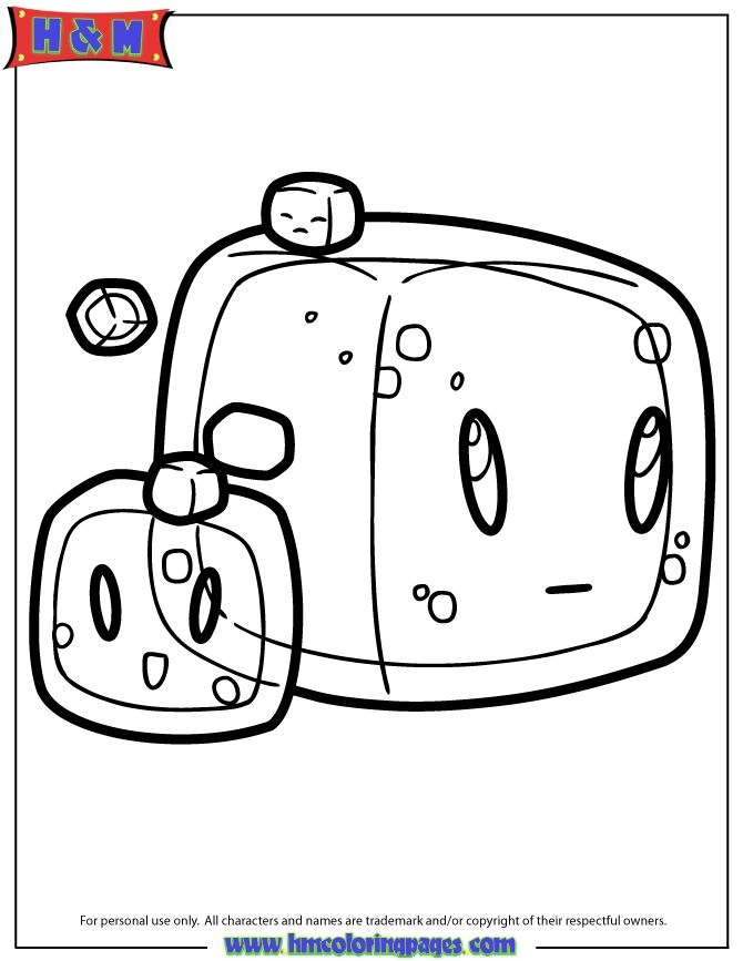 Gelatinous Cubes Slimes Coloring Page | Coloring pages ...