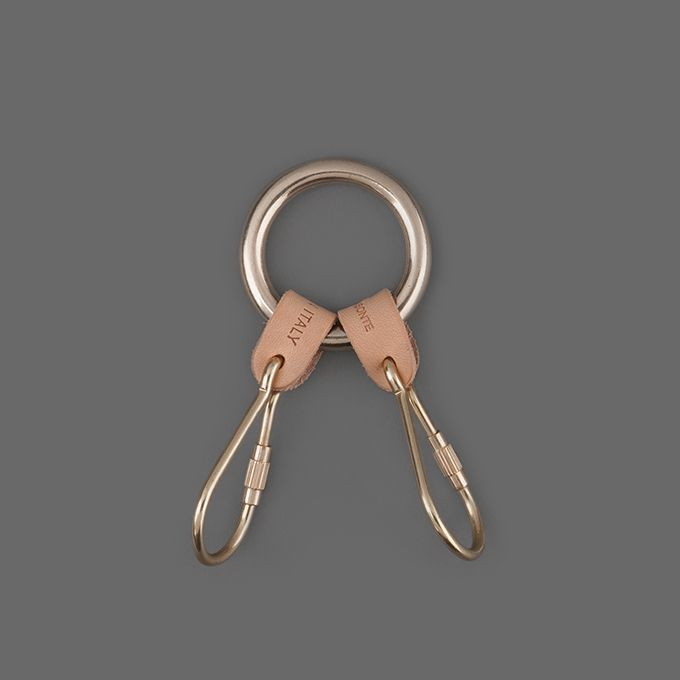 MILL MERCANTILE - Il Bisonte - 2 Piece Key Ring in Natural