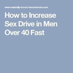 How to increase sex drive