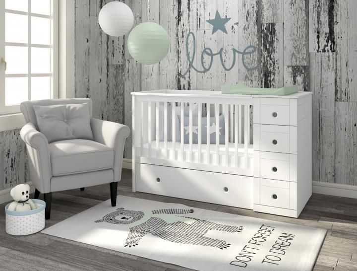 #3in1Cot is one of our best selling #cot #beds. It is designed for limited nursery spaces. Quality and beautiful baby cot with loads of storage. see more at http://funique.co.uk