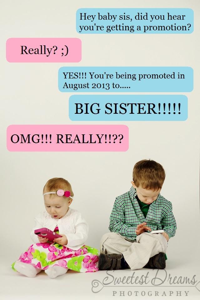 Sibling pregnancy announcement  sweetestdreamsphoto.com