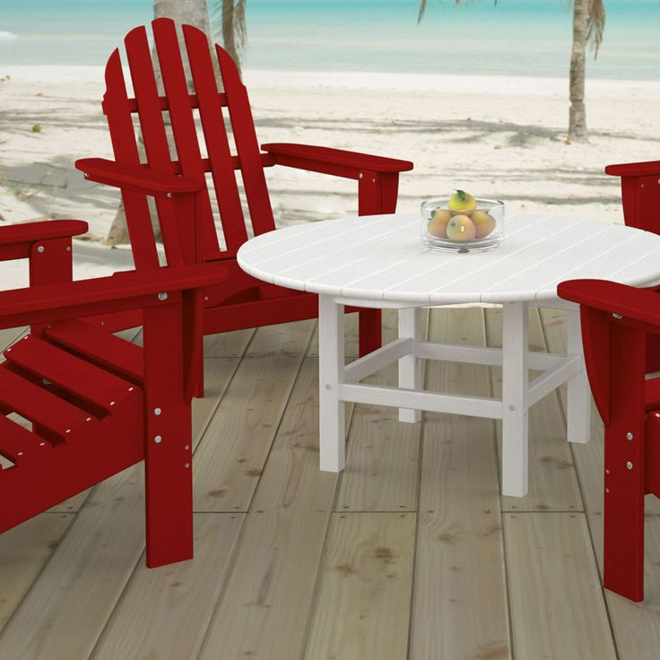 Adirondack Coffee Table Set: 53 Best Polywood Outdoor Furniture Images On Pinterest