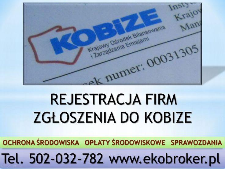 Kobize, tel 502-032-782, zgłoszenie firmy do Kobize, rejestracja kobize, raport, http://ekobroker.pl/