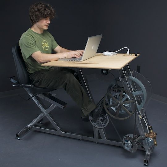 Big Rig - combine office work with physical activity, by Pedal Power