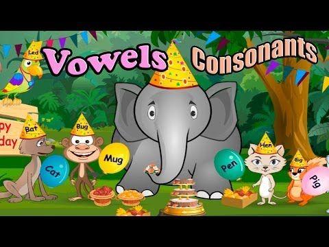 Children's: Vowels, Consonants, and Rhyming Words, ABC, Alphabet Songs, Phonics CVC words - YouTube
